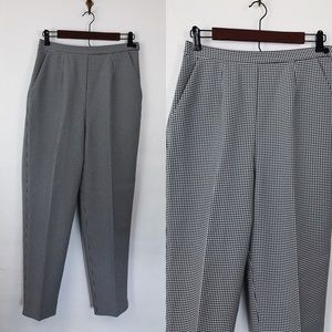 Vintage • Gingham High Waisted Trousers